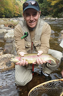 Man with trout